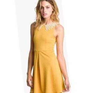 Free People Waffle Knit Collar Dress Size Medium